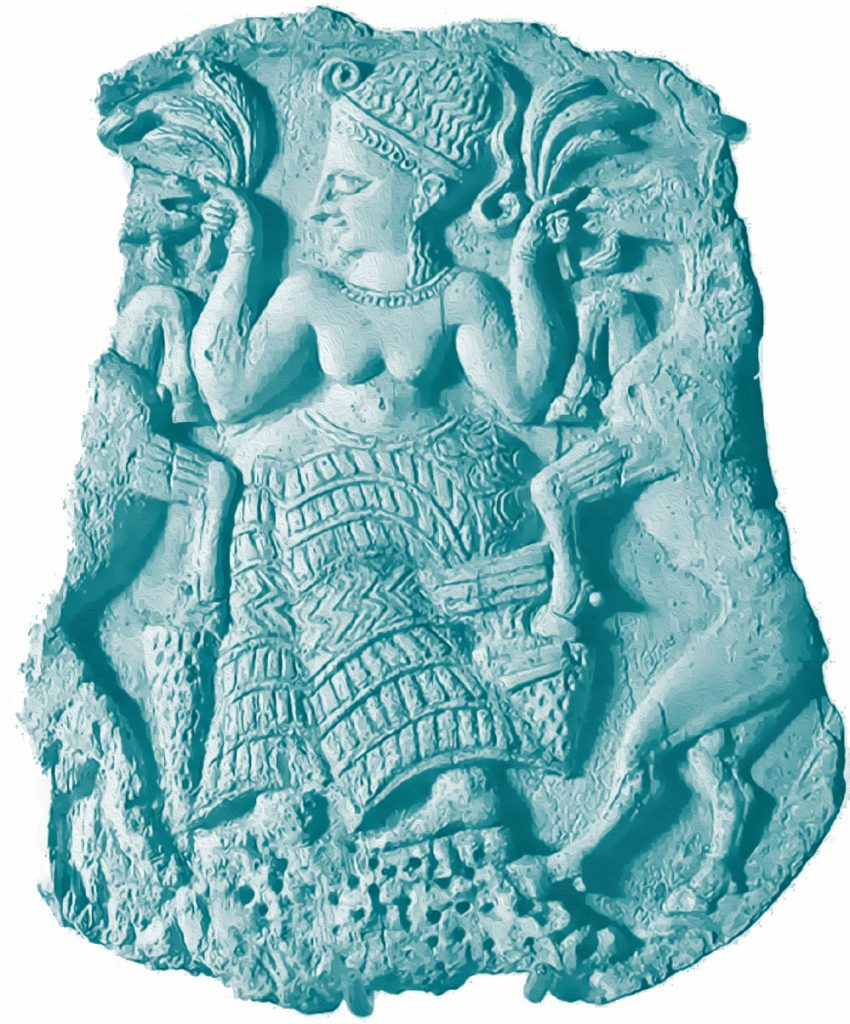 Asherah - Ivory box cover from Ugarit.